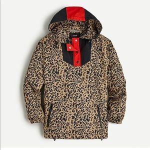 NWT J. Crew Leopard print Anorak jacket
